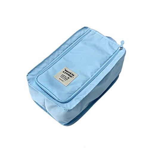 QHGstore Tragbare Tote Schuhe Der Beutel Wasserdichte Aufbewahrungstasche Ver.3 Blau