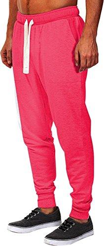 Fiream Mann Freitzeit sportliche Hose Baumwoll aktiv elastisch Taille Laufsport Hosen Red