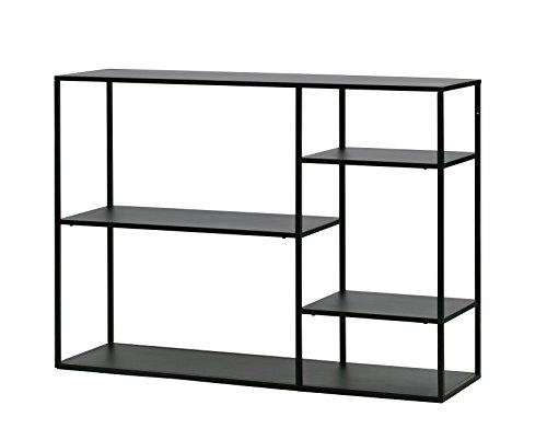 Konsolentisch Beistelltisch Sideboard Konsole JUNE Metall Industrie Design schwarz (inklusive hochwertiger Wohnzeitschrift) (Sideboard Metall)