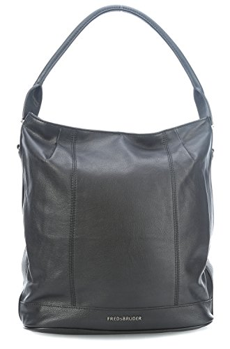 FREDsBRUDER Flap Hobo Umhängetasche 34 cm, black (Flap Handtasche Hobo)