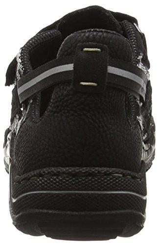 Rieker L0570 Women Low-Top, Baskets Basses Femme Noir (schwarz/schwarz/schwarz-weiss / 01)