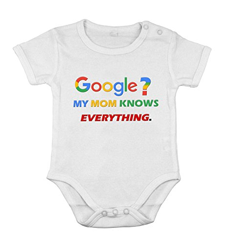 Body-soul-n-spirit Baby Newborn Clothing Short sleeve Suit Google mom knows everything print 18M