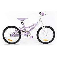 Muddyfox x Silverfox Flutter Girls Bike - Lavender/White, 18 inch Wheels