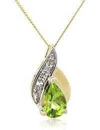 Collier - A94TN3510PT - Collar de mujer de oro amarillo (9k) con 1 peridoto