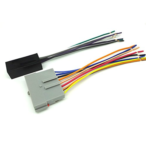 Yihao Premium Sound Car Stereo Cd Player Wiring Harness Wire Aftermarket Radio Install 1990-1994 Lincoln Towncar W Or W O Jbl System Zz2450