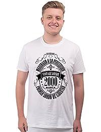 8a6af3069 BANG TIDY CLOTHING Camiseta Para Regalo DE 18 Cumpleaños Para Hombre  Matured 2000