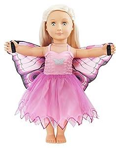 DREAMY DRESS-UPS 71012Vestido para muñecas de 18pulgadas/46cm, Mariposa, Color Rosa