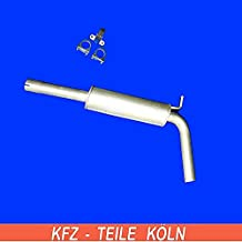 ETS-EXHAUST 51714 Mitteltopf Auspuff f/ür CORDOBA IBIZA 1993-2002 // POLO 1.4 KOMBI LIMOUSINE 60hp 1995-1999 Anbauteile