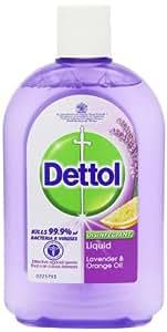 Dettol Disinfectant Liquid 500 ml - Lavender and Orange Oil, Pack of 12
