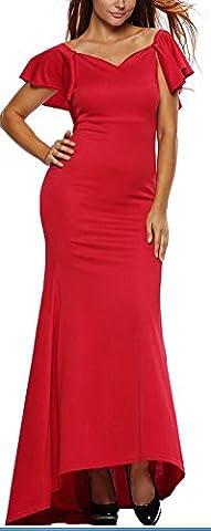 SunIfSnow - Robe de chambre - Moulante - Uni - Manches Courtes - Femme - rouge - Large