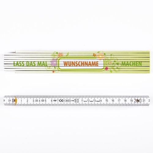 Preisvergleich Produktbild Cera & Toys® Zollstock mit kostenlosen Namensaufdruck - Lass das mal Mutti machen -
