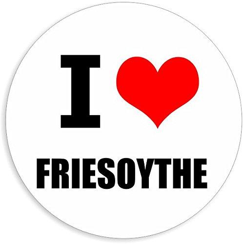 I love Friesoythe in 2 Größen erhältlich Aufkleber mehrfarbig Sticker Decal
