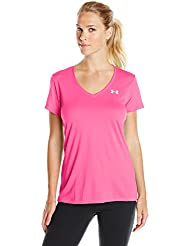 Under Armour Tech Ssv - Solid - Camiseta para mujer, color rosa (rbp/msv), talla L