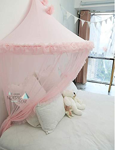 Moustiquaire Bébé Rose Ciel de Lit Baldaquin Rideaux de Lit Tente Enfant Fille Garcon Cadeaux Decoration Chambre BNTE004