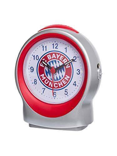 FC Bayern München Wecker Emblem, Alarm mit Snooze Taste, Beleuchtung, Schlummer-Funktion