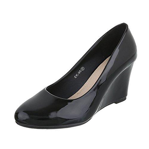Ital-design - Zapatos De Plataforma Schwarz Ek-95 Para Mujer