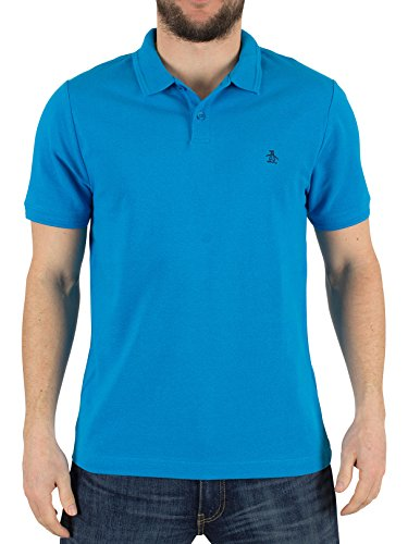 original-penguin-hombre-la-nervadura-slim-fit-polo-del-logotipo-azul-medium
