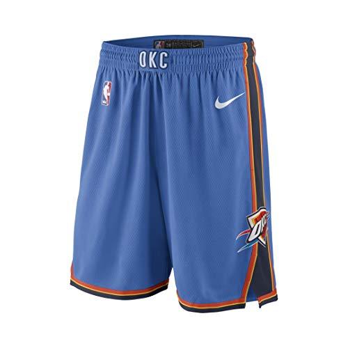 Nike OKC M NK SWGMN Short Road 18 Shorts, Herren, Blau (Signal Blue/College Navy/White)