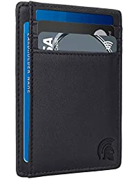 Cartera Delgada con Bloqueo de identificación por Radio frecuencia (RFID), Tarjetero Minimalista para Tarjetas de crédito, con Capacidad de hasta 7 Tarjetas y Billetes.