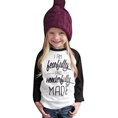 Per 2-6 anni,Amlaiworld Ragazze bambini lettera stampa manica lunga t-shirt