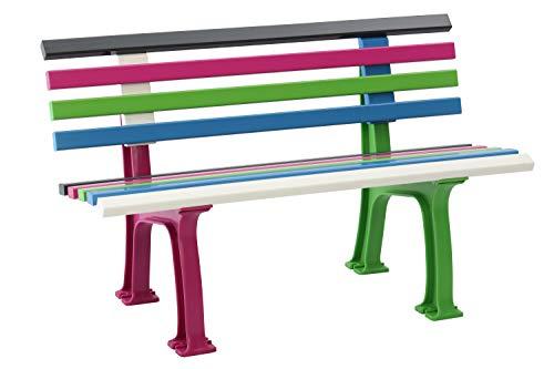 Blome 51000 Ibiza Color Bunt Kunststoff-Gartenbank – Kinderbank 120 cm