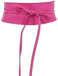 09969684f ... Cinturones : Rosa. Fashiongen - Cinturón obi cuero artificial Mica