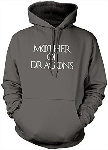 Mother of Dragons Daenerys Targaryen GOT Hoodie - Grey, Medium