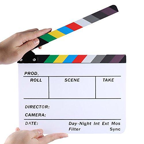 Neewer 25x 20cm Acryl-Kunststoff Dry Erase Director 's Film Schindel Schiefer mit Farbe Sticks