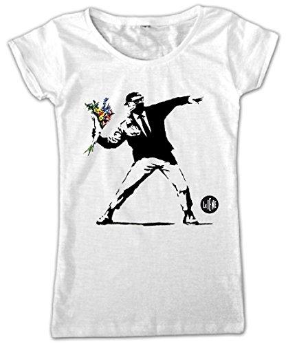 Video Delta-Le Iene Color Banksy Camiseta, Para mujer, de talla S