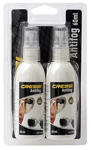 Cressi Anti Fog 2Pack Antibeschlagmittel, Transparent, 2x60 ml Spray