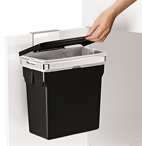 simplehuman CW1643 In Cabinet Kitchen Waste Bin Black with Heavy Duty Frame 10L