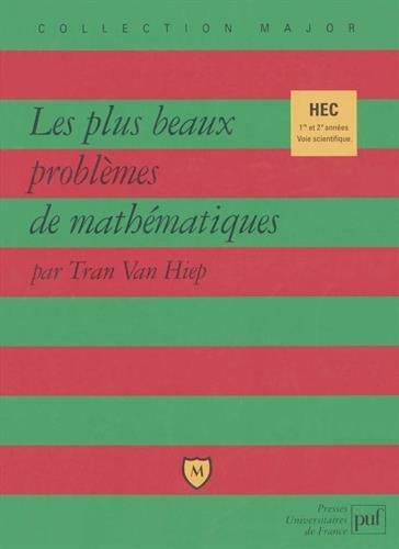 Les plus beaux problmes de mathmatiques, HEC 1re et 2e annes