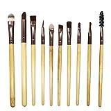 Makeup Brushes,Professionnelle Kits ,10 PièCes De Maquillage Pinceau Professionnel Visage Ombre à PaupièRes Eyeliner Foundation Blush Makeup Brushes Brush Beauté Maquillage