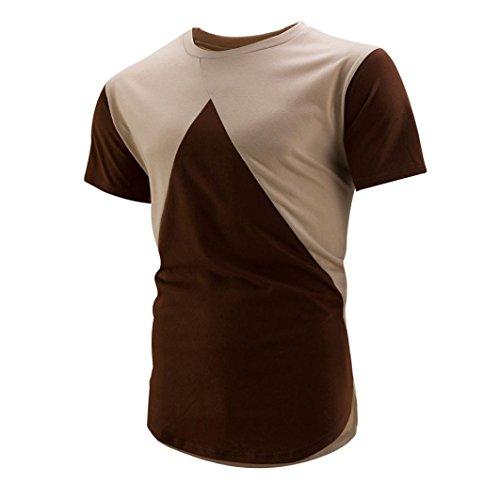 Preisvergleich Produktbild T-Shirt Sannysis,Herren T-Shirt Schlank Passen O-Hals T-Shirt Kurzarm Tops (Gelb, XL)