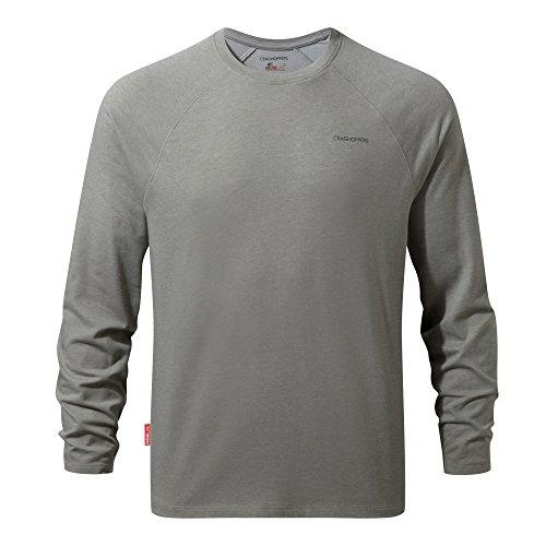 Craghoppers NosiLife Bayame Langarm Shirt Men - Longsleeve light grey