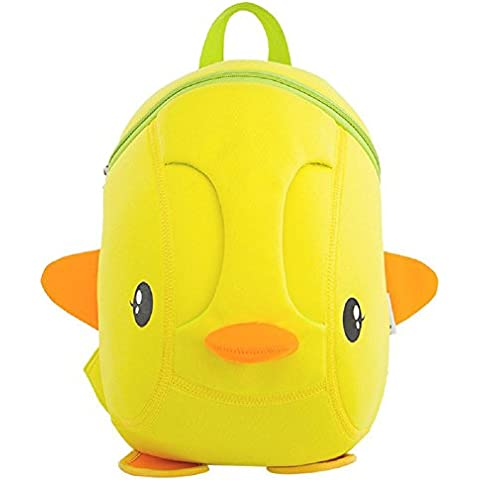 YYH Mochilas de los niños del jardín de la infancia de grado versión coreana de colegiala 1-2 27 * 21 * 12 cm lindo poco amarillo pato mochila nylon ultraligero . yellow