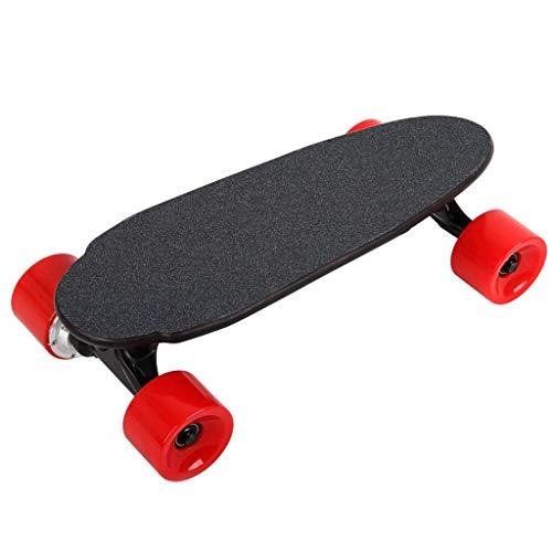 Mini Caster Board-intelligente elektrische Flach Skateboard Vierrad-Fernbedienung Mini-Skateboard kann Put-Rucksack for Anfänger und Pendler in der Stadt breit und Stable Deck Drop-Through Freeride Sk