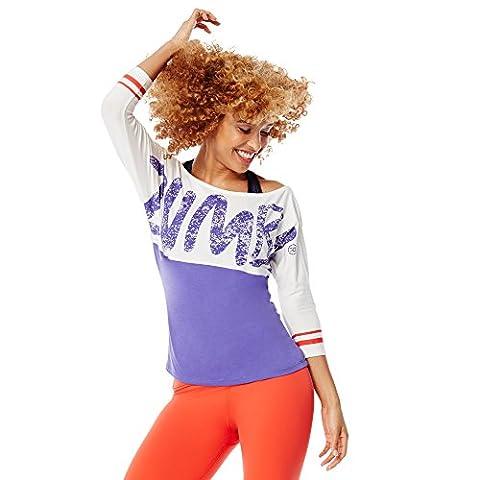 Zumba Fitness WT TopZ Pride T-shirt de baseball Large Purple Moon