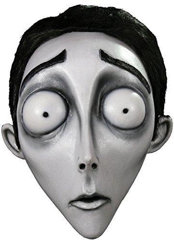 Damen Herren Tim Burton Corpse Bride Victor Emily handbemalt Sculpted Halloween Cosplay Konvention Professionell Theater Kostüm Kleid Outfit Maske (Corpse Bride Cosplay Kostüm)