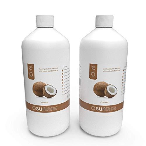 2000ml (X 2 1000ml) Bronzage Coco Lumière 8% Dha Spray Tan Solution