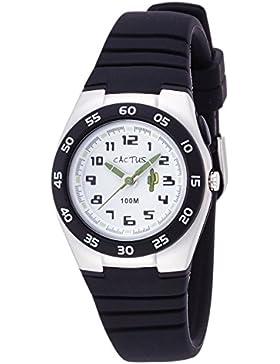 Cactus Kinder-Armbanduhr Analog Plastik Schwarz CAC-75-M01