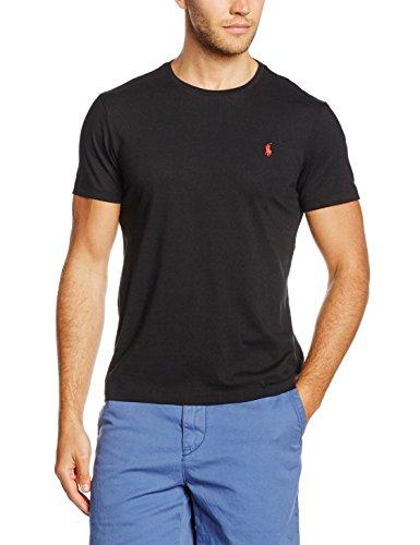 Polo Ralph Lauren Herren T-Shirt Crew T/S, Schwarz (RL Black A0060), X-Large (Herren Ralph Lauren Polo Schwarz)