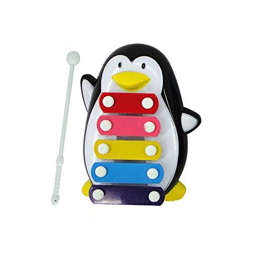 ♥ Loveso ♥-Spielzeug Baby-Kind 5-Anmerkung Pinguin-Xylophone-Klugheit-Entwicklung Musikalische Spielwaren (Schwarz) (Pinguin Jigsaw Puzzle)