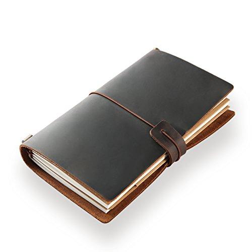 Klassisches Notizbuch/Tagebuch aus echtem Leder, mit nachfüllbaren Seiten, 100 {ea115106de960a97109b3941e9e4e9b98dea10f0c016aa4a46fafa4d91806f00} handgefertigt, Geschenk, Reisetagebuch, Tagebuch, von ScrodCat m BrownA