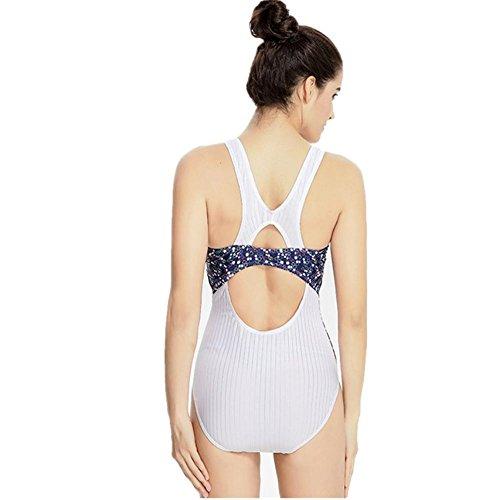 ZOYOL-YT Art und Weise reizvoller Bikini einteiliger Badeanzug-Frauen-Sport-im Freien professionelle konkurrierende Größen-Strand-Badebekleidung White