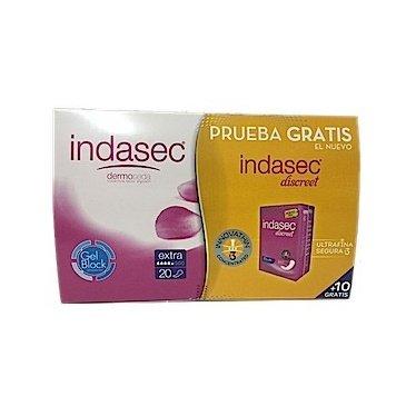 Compresa incontinencia indasec extra 20 ud + 10 ud