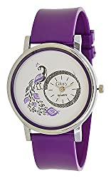 A&A CORP Designer Peacock Blue Color Round Dial Analog Watch For Girls And Women