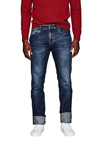 ESPRIT Herren Slim Jeans 107EE2B040 Blau (Blue Dark Wash 901), W38/L34 (Denim Slim Dark Jeans Herren)