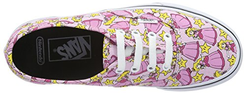 Vans Unisex-Erwachsene Authentic Low-Top Pink ((Nintendo) Princess Peach)