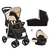 Hauck Hauck shopper slx trio set 3 in 1 kinderwagen bis 25 kg babyschale babywanne mit matratze ab geburt buggy mit liegefunktion getränkehalter leicht klein faltbar